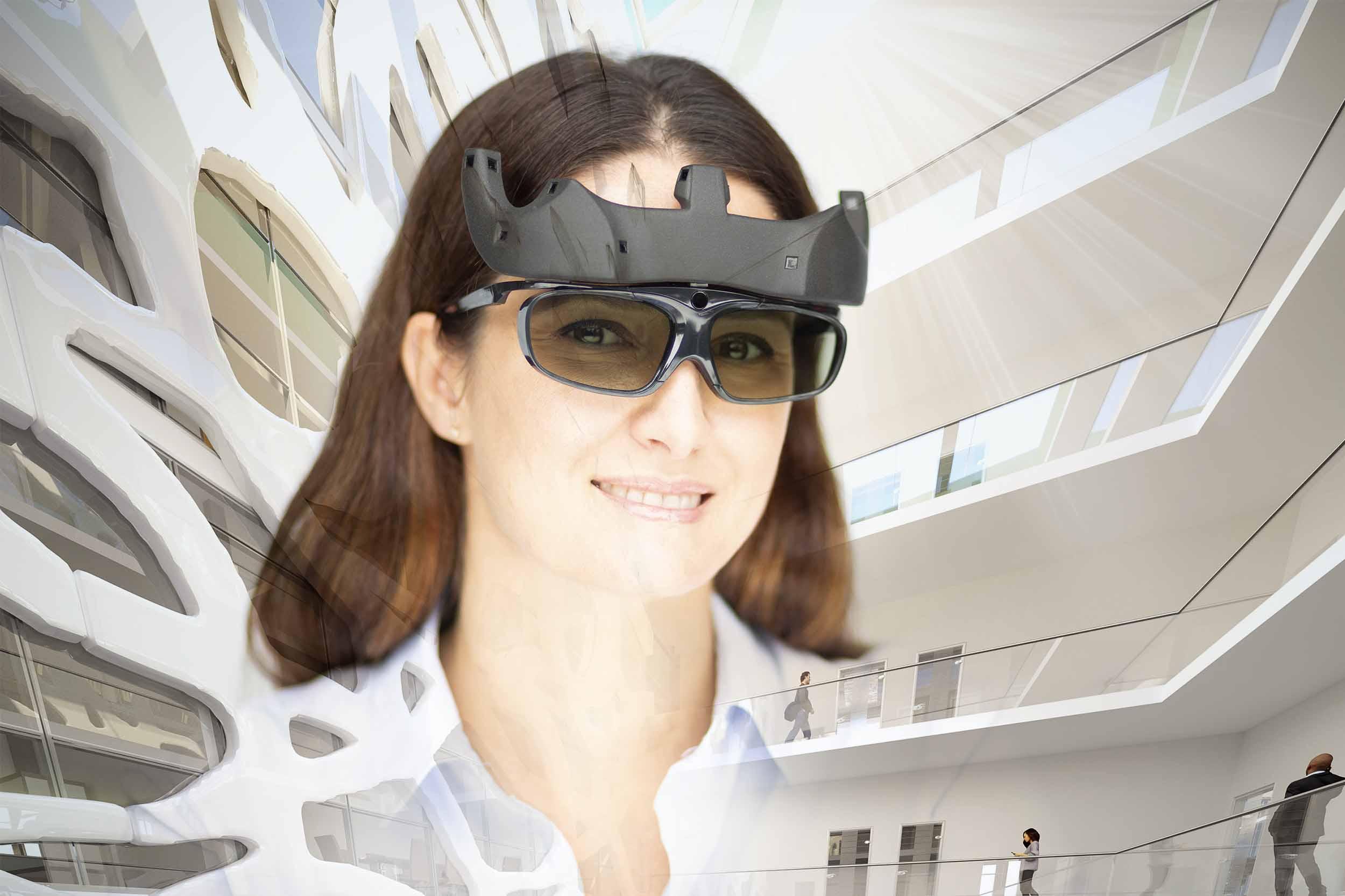 VR-Brille mit Durchblick